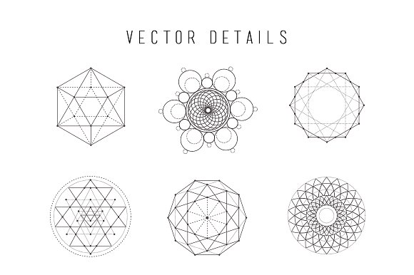 sacred geometry vector bundle illustrations creative market