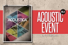 Acoustic Event Flyer Templates Vol.4
