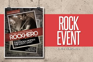Rock Event Flyer Templates