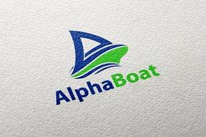 Alpha Boat Logo + Stationery