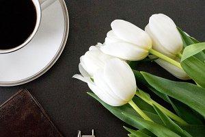 Coffee, Cufflinks, Leather Wallet