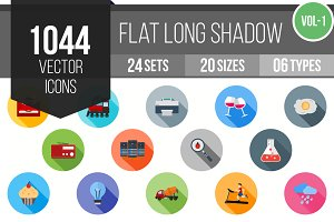 1000+ Flat Shadow Icons (V1)