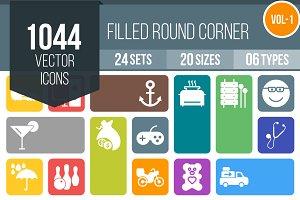 1000+ Flat Round Corner Icons (V1)