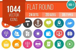 1000+ Flat Round Icons (V1)