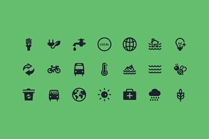 Sustainable Resources Icons
