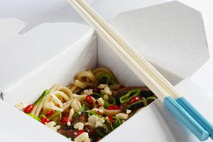 Fresh and healthy noodle dishes