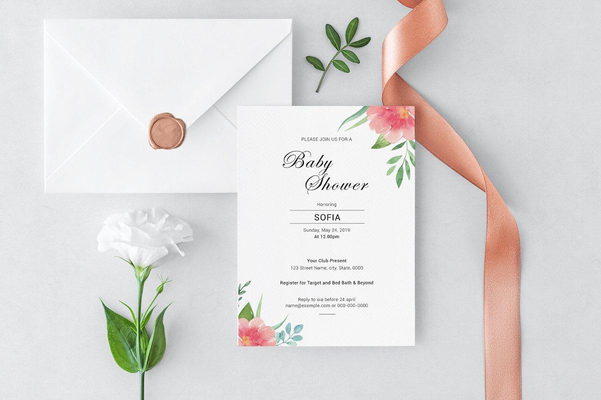 Baby Shower Invitation Template | Creative Invitation Templates ...