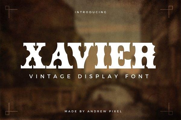 Xavier - Vintage Display Font