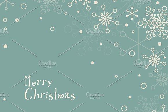 set of 3 minimalist christmas cards card templates creative market