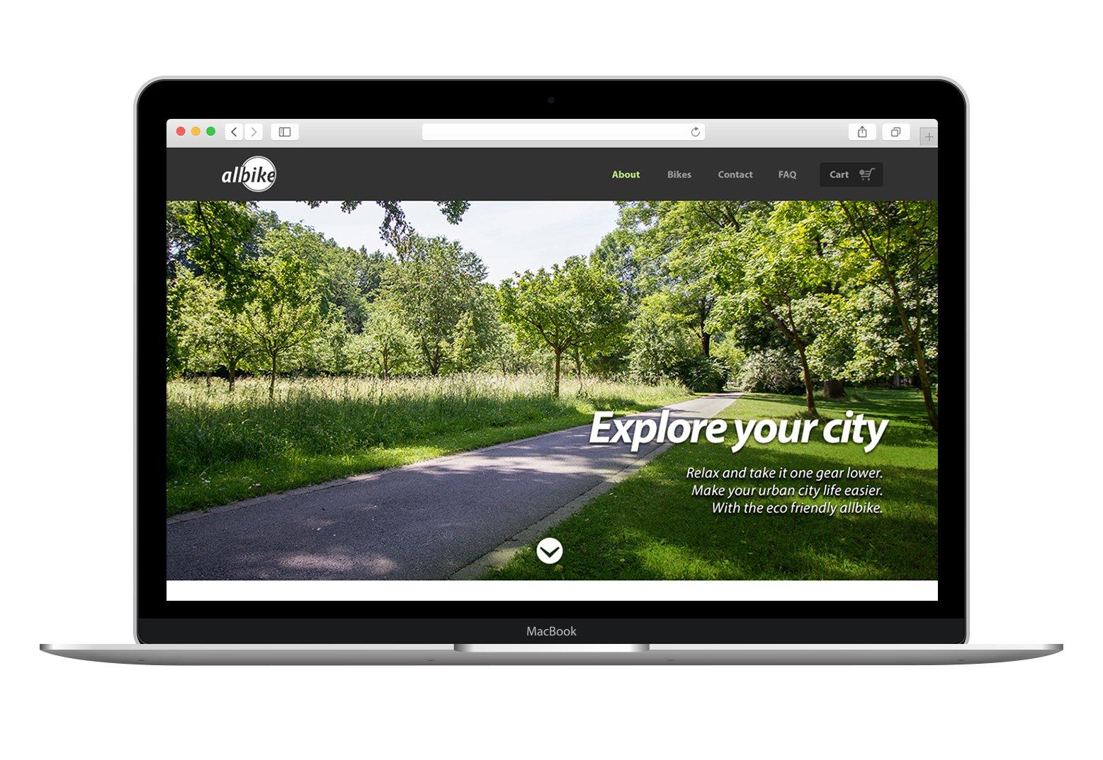 eco friendly bike shop website website templates creative market. Black Bedroom Furniture Sets. Home Design Ideas