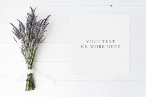 Lavender floral wedding photo