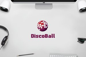 Disco Ball - DJ World Music Logo