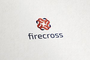 Fire Crosss - Flame Media Logo