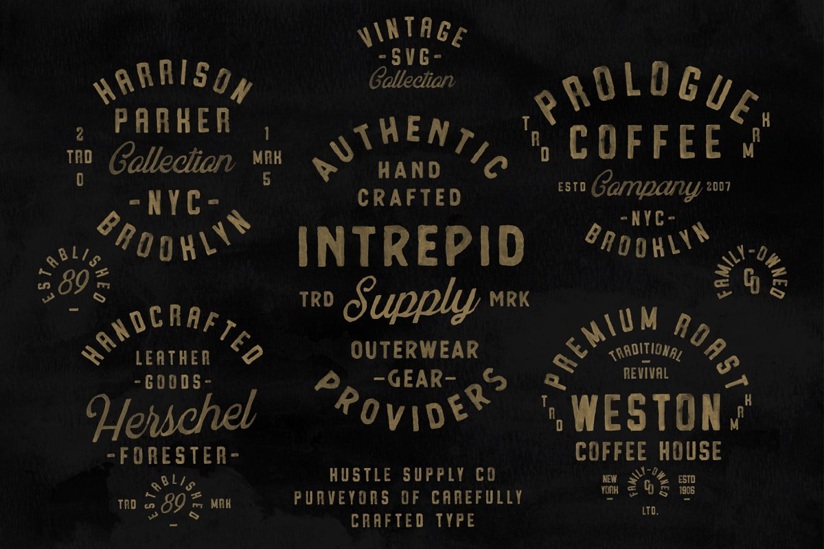 Vintage SVG Bundle & Logo Templates in Display Fonts - product preview 1
