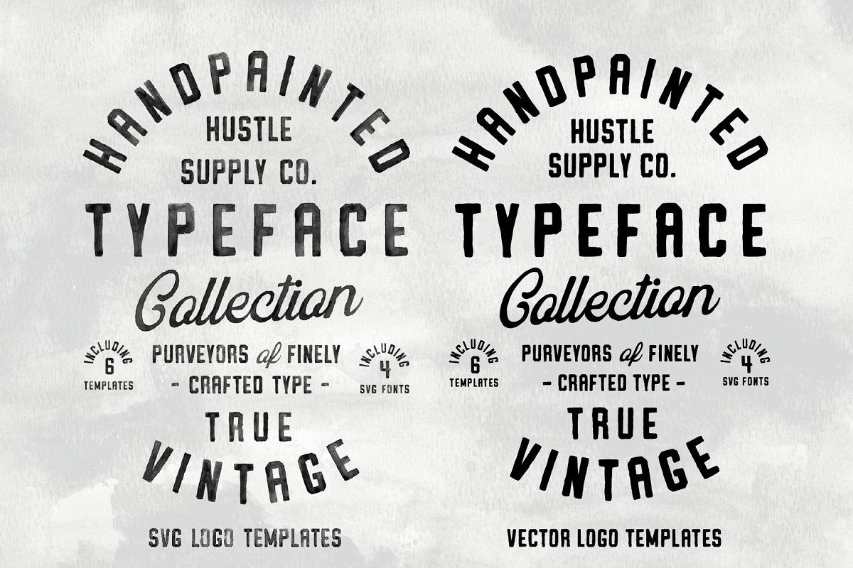 Vintage SVG Bundle & Logo Templates in Display Fonts - product preview 9
