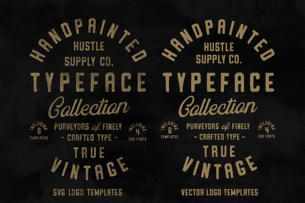Vintage SVG Bundle & Logo Templates in Display Fonts - product preview 10