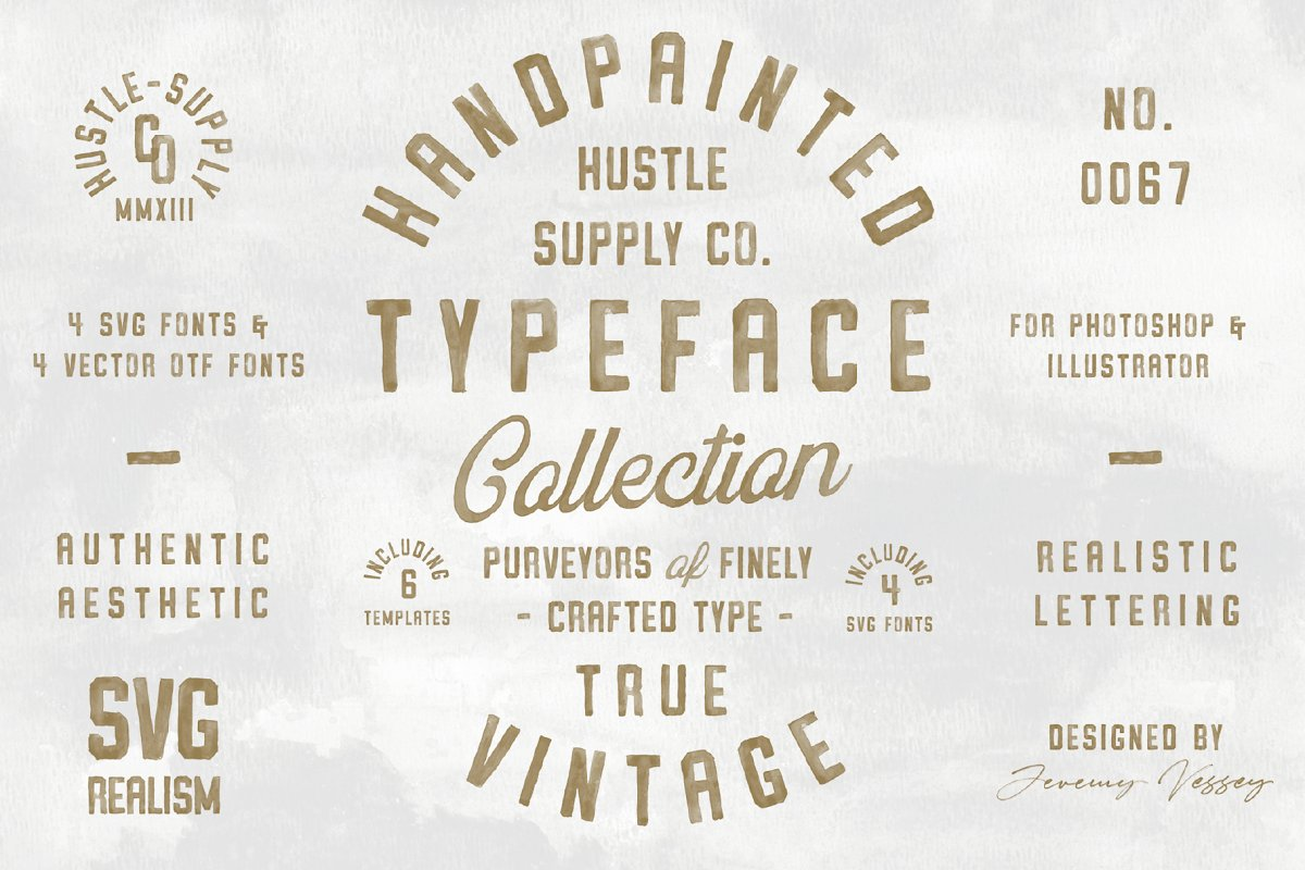 Vintage SVG Bundle & Logo Templates in Display Fonts - product preview 13