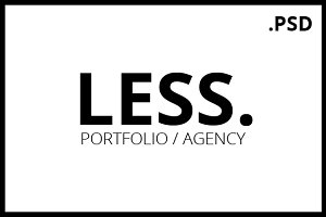 LESS Portfolio / Agency PSD Template
