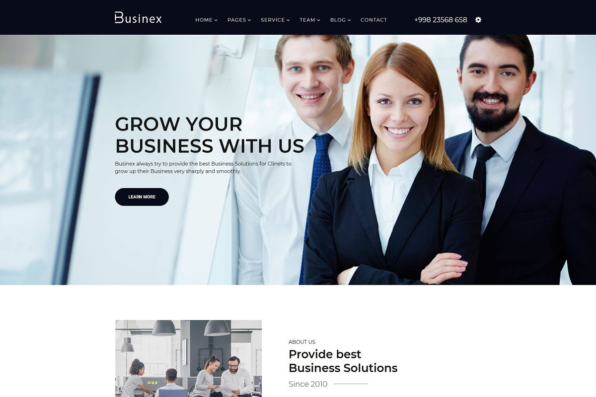 Businex – Corporate HTML5 Template