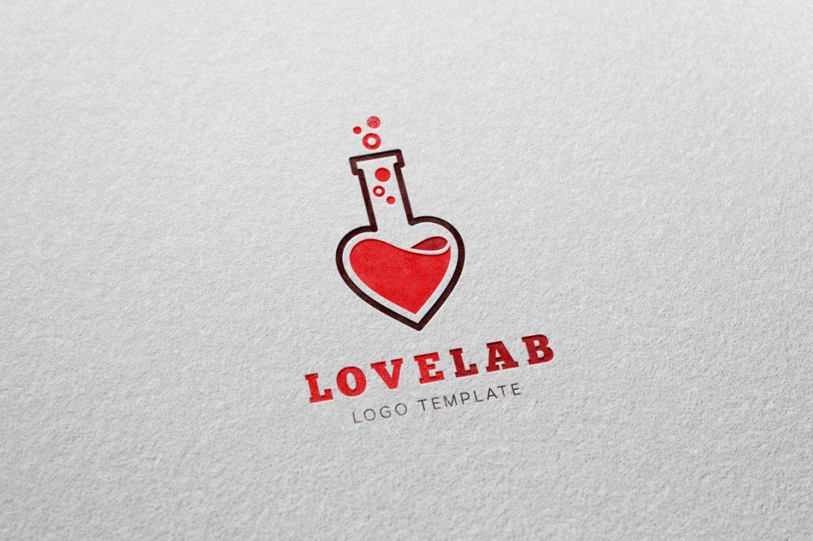 Love Laboratory Vector Logo Template ~ Logo Templates ~ Creative Market