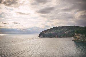 The view over the Adriatic sea coast