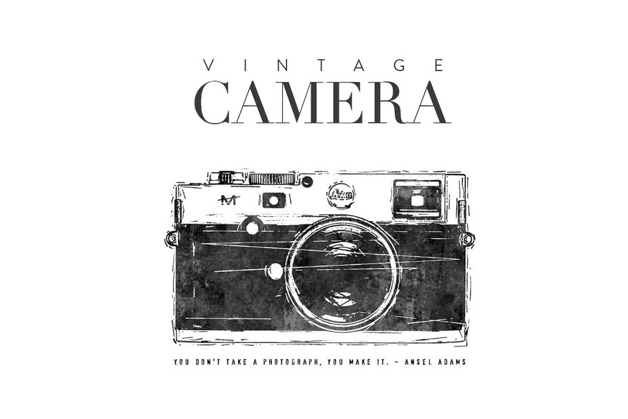 Camera Vintage Vector Png : Vintage camera illustration ~ illustrations ~ creative market