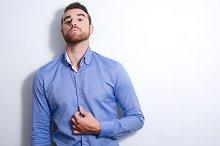 Young man posing as a model