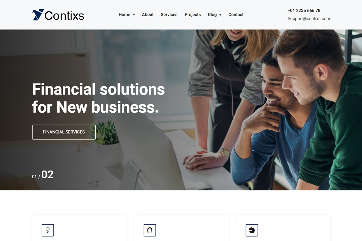 Contixs - Consulting HTML5  Template