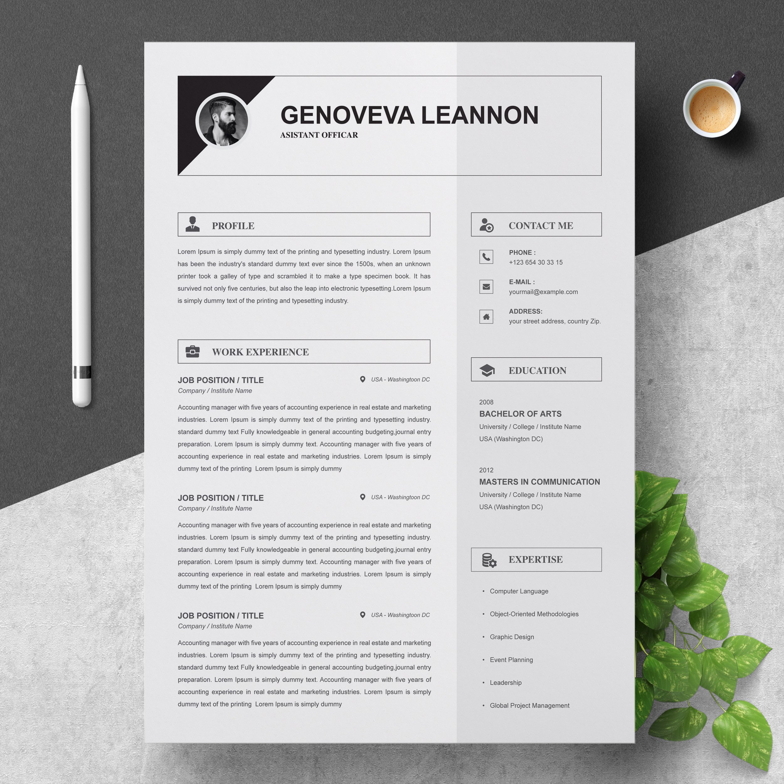 Resume Template And Cover Letter Creative Illustrator Templates Creative Market