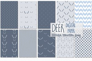 deer digital paper