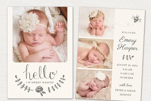 Birth Announcement Template CB031