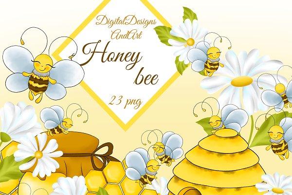 Clip Art Hoard: Honey Bee Clipart