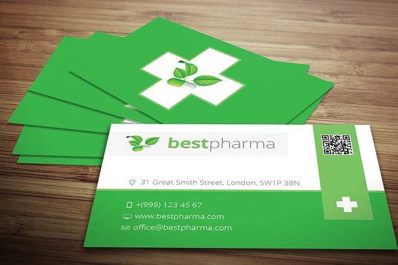 pharmacy business card business card templates creative market. Black Bedroom Furniture Sets. Home Design Ideas
