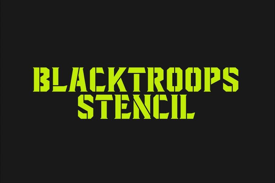 Blacktroops Stencil