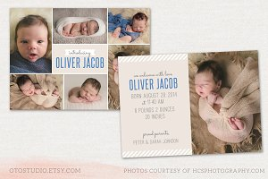 Birth Announcement Template CB009