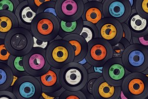 Vinyl records music background