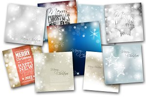9 Christmas Cards & Backgrounds