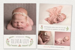Birth Announcement Template CB030