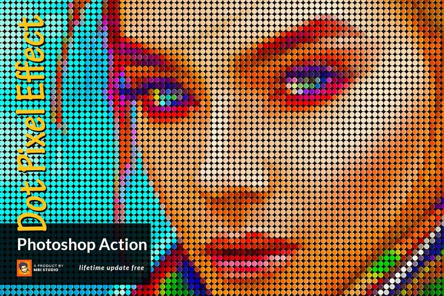 Dot Pixel Effect Photoshop Action
