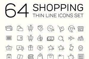 E-commerce and shopping icons.