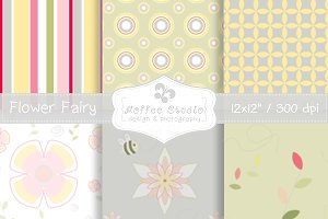 Flower Fairy Digital Papers