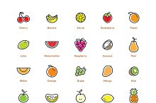 Fruit icons set.