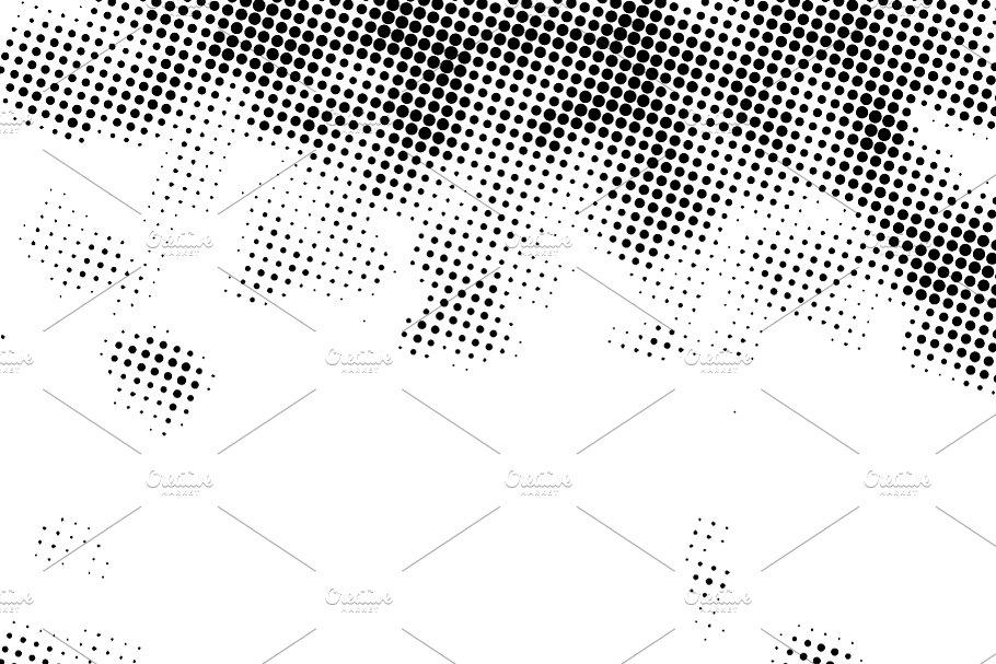 Square Grunge Halftone Dots Pattern Textures Creative Market