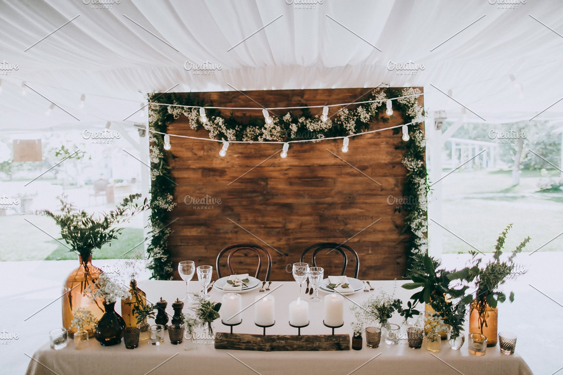 Rustic wedding table decoration | High-Quality Holiday Stock ...