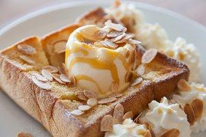 Ice Cream Bread Sweet, delicious