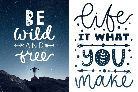 50 Lettering Posters Collection! in Illustrations - product preview 8
