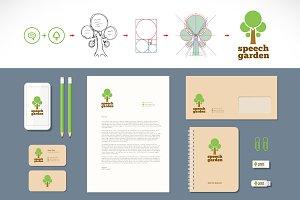 Speech Garden Logo and Stationery