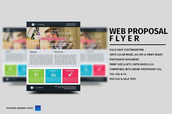 Web Proposal Flyer Template Flyer Templates on Creative Market – Web Flyer Template
