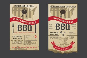 Barbecue invitation Independence day