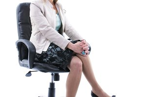 businesswoman in office chair